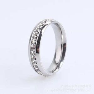 Other - Diamond Silver Stainless Wedding Ring Band 12